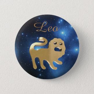 Leo golden sign 2 inch round button