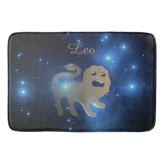 Leo golden sign bathroom mat