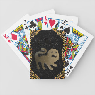 Leo golden sign bicycle playing cards