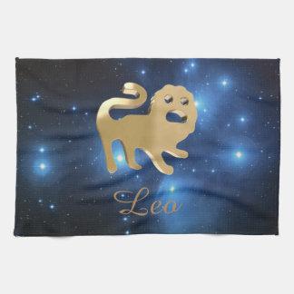 Leo golden sign hand towel