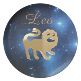 Leo golden sign plate