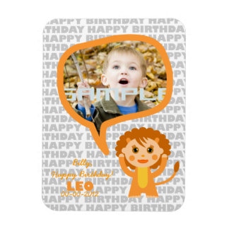 Leo Happy Birthday Keepsake for kids Magnet