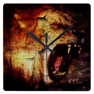 Leo horoscope safari wild Animal African Lion Wallclocks