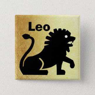 Leo Horoscope Sign Astrology Button