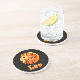 Leo illustration drink coaster