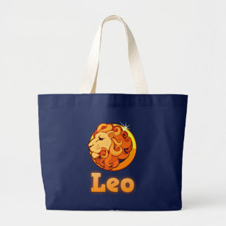 Leo illustration large tote bag