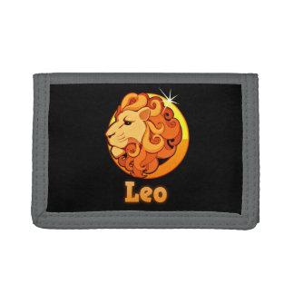 Leo illustration trifold wallet