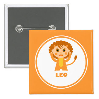 Leo is my Zodiac sign 2 Inch Square Button