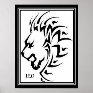 Leo/Lion Astrology Poster