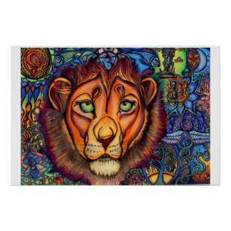 Leo Lion, Calm and Fierce Poster