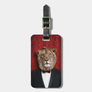 Leo Lion in King of the Jungle Tuxedo Bag Tag