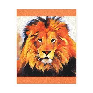 Leo lion picture canvas print