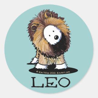 LEO Lion Westie Stickers