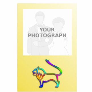 Leo Lion Zodiac Rainbow Color Photo Frame Standing Photo Sculpture
