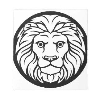 Leo Lion Zodiac Sign Notepad