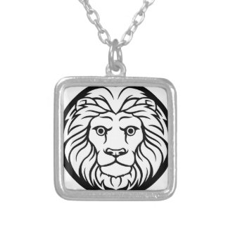 Leo Lion Zodiac Sign Silver Plated Necklace