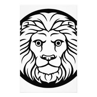 Leo Lion Zodiac Sign Stationery