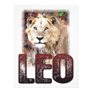 Leo or African Lion, a wild, dangerous feline cat Customized Letterhead
