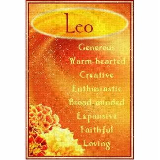 Leo Photo Sculpture Button