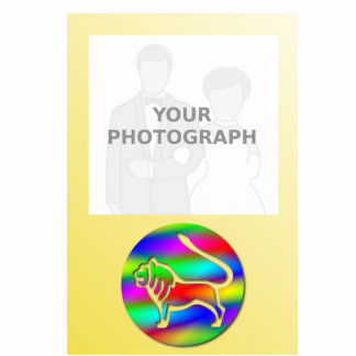 Leo Rainbow Color Lion Zodiac Photo Frame Standing Photo Sculpture