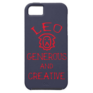Leo (Red Text) iPhone 5 Cover