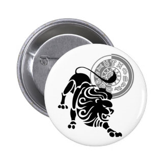 Leo Shadow 2 Inch Round Button