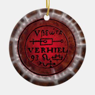 leo sigil ceramic ornament