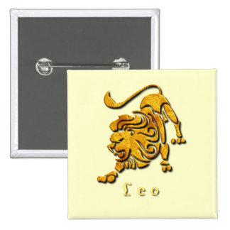Leo Sign Square Pin