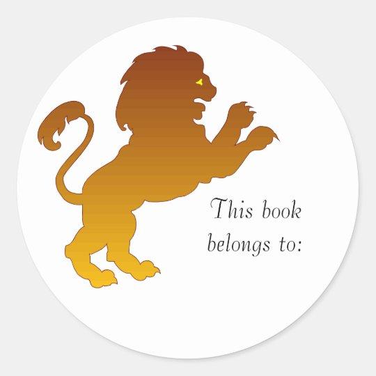 Leo Silhouette Bookplate Stickers