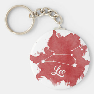 Leo Star Sign Keychain