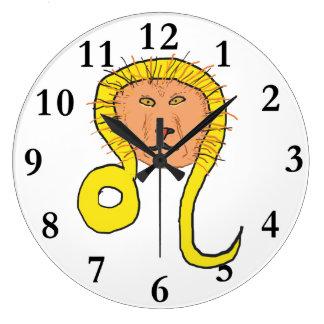 Leo Star Sign Wall Clocks