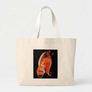 Leo symbol large tote bag