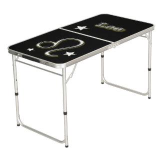 Leo symbol pong table