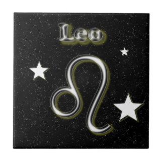 Leo symbol tile