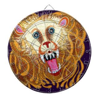 Leo the Golden Lion Dartboard