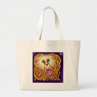 Leo the Golden Lion Large Tote Bag