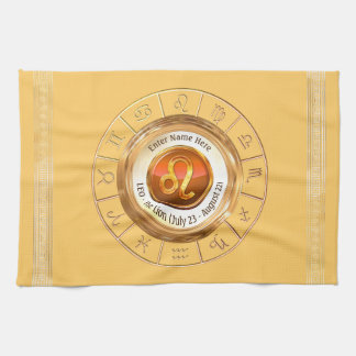 LEO - The Lion Astrological Sign Kitchen Towel