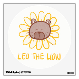 Leo the Lion -Baby / Kids Room Fun Wall Decal