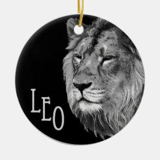 Leo the lion ceramic ornament