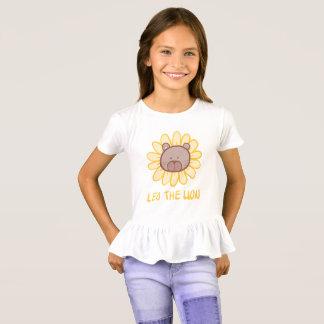 Leo the Lion - Girl's Ruffle T-shirt