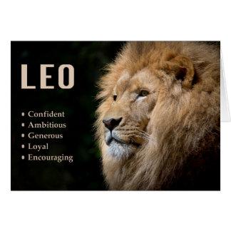 Leo the Lion Zodiac Card