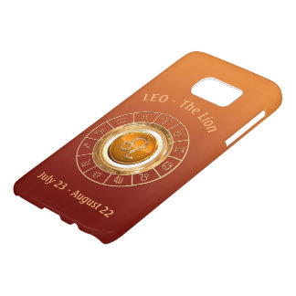 LEO - The Lion's Horoscope Symbol Samsung Galaxy S7 Case