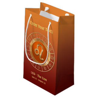 Leo - The Lion's Horoscope Symbol Small Gift Bag
