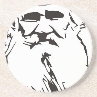 Leo Tolstoy Beverage Coasters