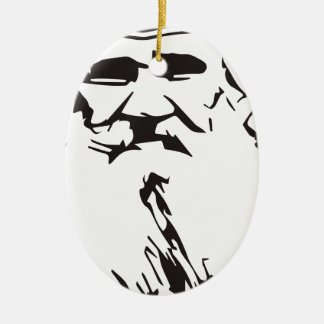 Leo Tolstoy Ceramic Oval Ornament