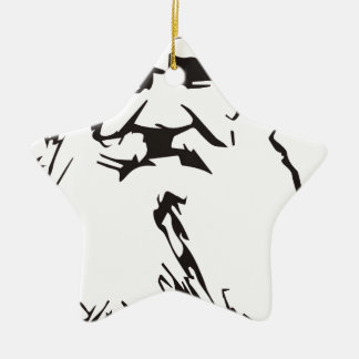 Leo Tolstoy Ceramic Star Ornament
