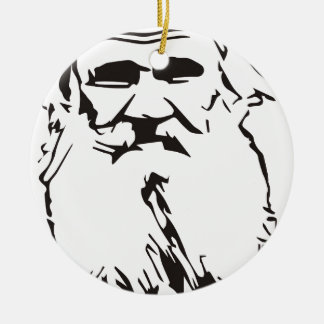 Leo Tolstoy Round Ceramic Ornament