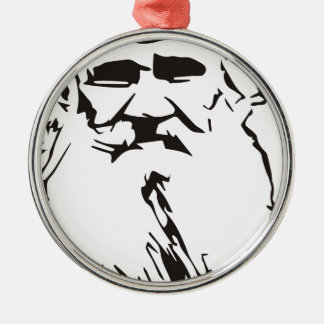 Leo Tolstoy Silver-Colored Round Ornament