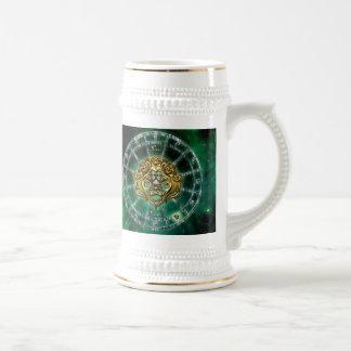 Leo Zodiac Astrology design Beer Stein