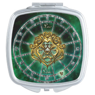 Leo Zodiac Astrology design Compact Mirrors